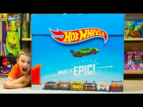 Видео: Huge Hot Wheels Surprise Box with tons of Hot Wheels Toys Kinder Playtime