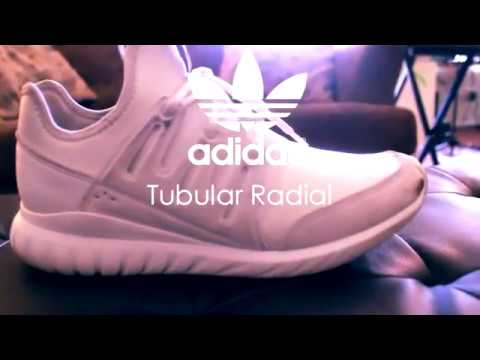 "Sneaker Sweeper Presents ""Crystal White"" Men's Adidas Tubular Radial Scuff Removal"