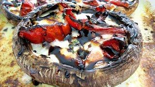 Caprese Portobellos with Balsamic Glaze - PoorMansGourmet