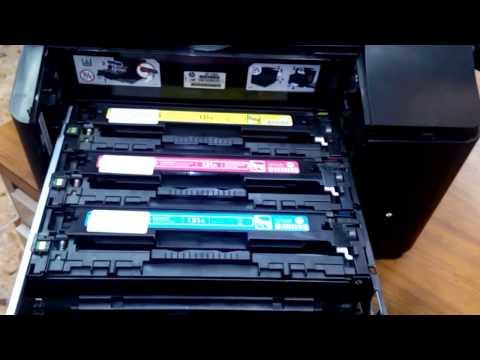 Replacing Toner Cartridge On Hp Color Laserjet Pro M177fw