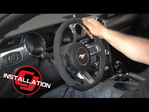 Thumbnail: 2015-2017 Mustang Ford Steering Wheel GT350 Leather And Alcantara Installation
