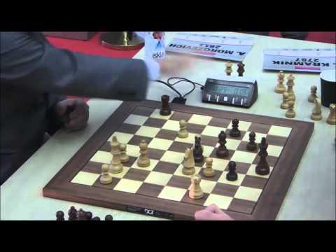 Alexander Morozevich vs Vladimir Kramnik - Blitz Chess Ending