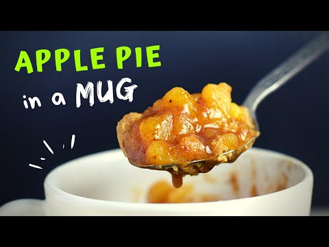 Apple Pie in a Mug (HEALTHY and UNDER 5 MINUTES!)