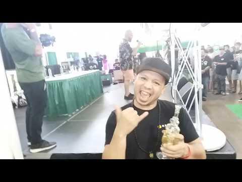 The Aloha Cup awards ceremony at the 3rd annual Hawaiian cannabis expo host Bobby Black