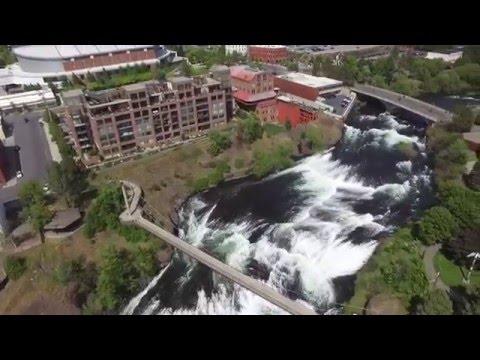 Spokane Washington-Riverfront Park with Drone