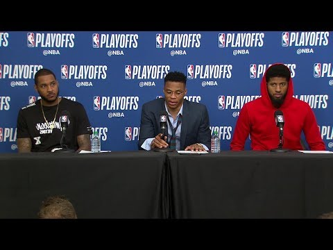 Carmelo, Westbrook & PG Postgame Interview | Thunder vs Jazz - Game 4 | 2018 NBA Playoffs