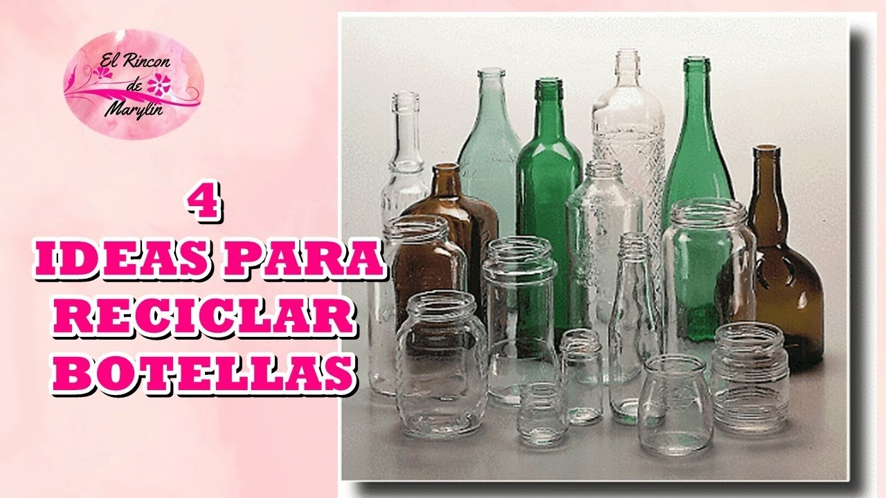 Diy 4 ideas para reciclar y decorar botellas de cristal - Reciclar para decorar ...