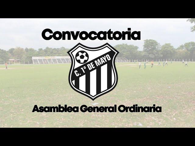 ASAMBLEA CLUB PRIMERO DE MAYO 2021