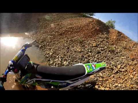 sortie avec 3 dirt bike minimx 140 yx drift