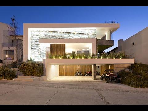 Dise o de moderna casa de dos plantas con s tano youtube - Casas de dos plantas ...