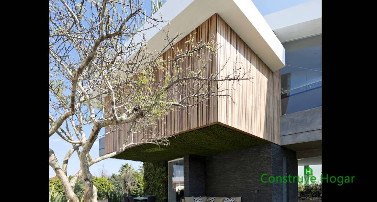 Dise o de moderna casa de dos plantas con s tano youtube for Disenos de casas de dos plantas