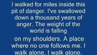 """I Walk Alone """" Saliva """" .Batista"""