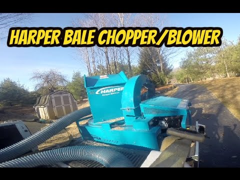Harper Straw Bale Blower Review.   Great Tool.!
