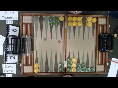 Carolina Backgammon R11 David Presser v Stuart Thomson