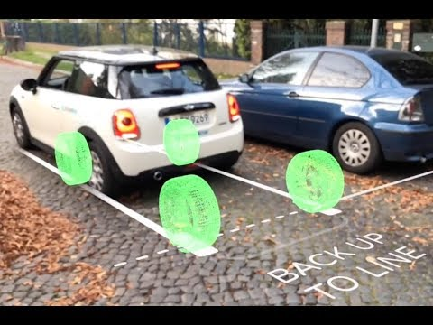 Parallel Parking with Augmented Reality - by AirMeasure