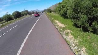 Ironman 70.3 Mallorca 2014 bike route, 500% speed, Part 1/3