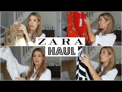 HUGE ZARA HAUL - UNBOXING & TRY ON