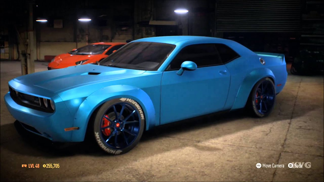 Charger Vs Challenger >> Need For Speed 2015 - Dodge Challenger SRT8 2014 - Tuning & Free Roam Gameplay (XboxONE HD ...