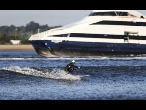 Garrett McNamara surfou a Onda Urbana Gasoline no Barreiro - 2014