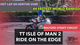 TTIOM 2 Milford street circuit Superbike hot laps gameplay | Drizzmeister RR