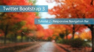 Twitter Bootstrap 3 Tutorial 2 - Responsive Navigation Bar with Dropdown Menu : Creating Website