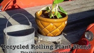 Recycled Rolling Plant Stand Hack