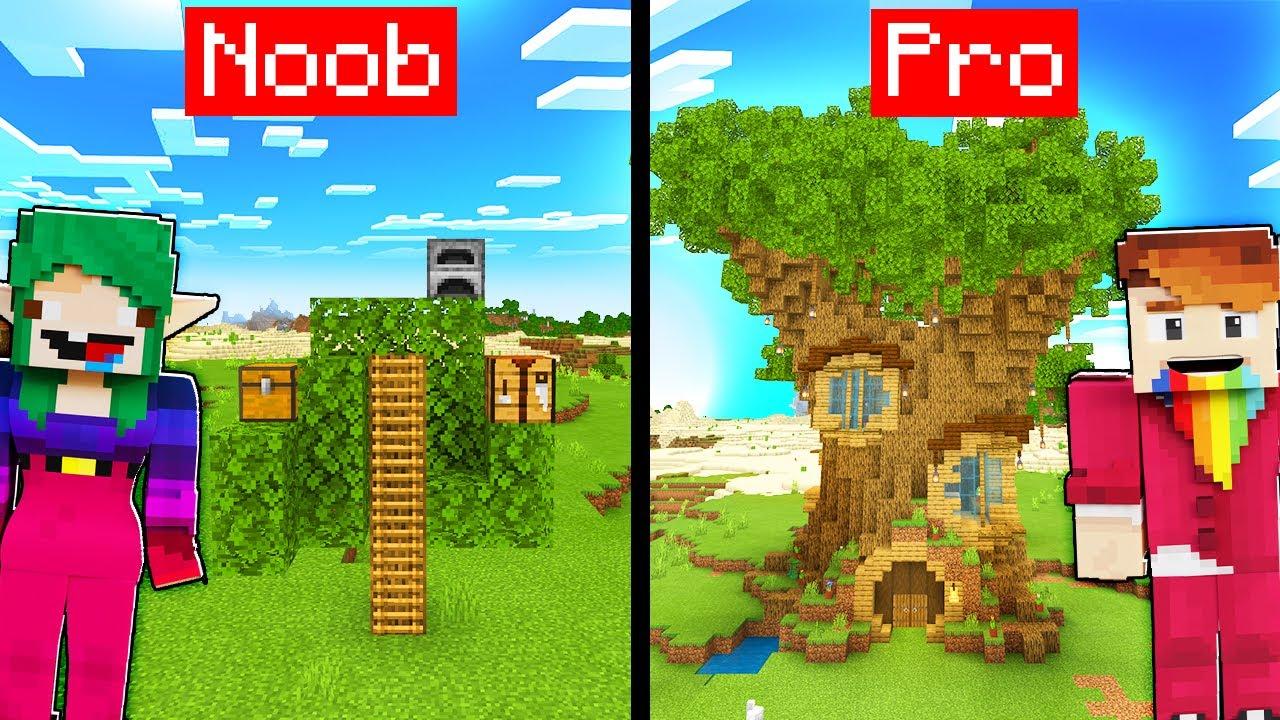 DOMEK NA DRZEWIE NOOB VS PRO! - Minecraft   CZOKO I NALI