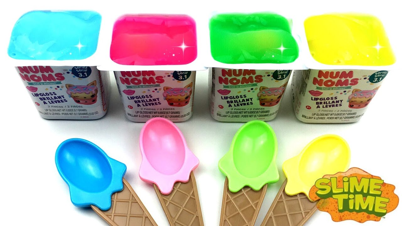 Learn Colors With Num Noms Yogurt Clay Slime Surprise Toys Trolls