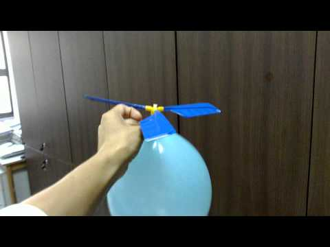 Balloon-powered helicopter