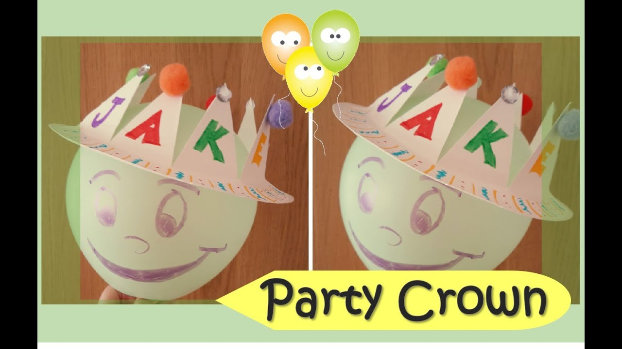 Party Crown | Paper Plate Series  sc 1 st  YouTube & Party Crown | Paper Plate Series - YouTube