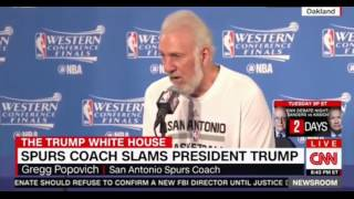 Spurs coach slams President Trump he is embarassing and dangerous to our institutions