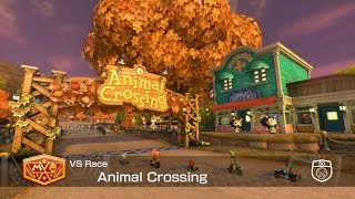 Mario Kart 8 DLC - Animal Crossing Course ALL SEASONS TRACKS (Spring, Summer, Autumn, Winter)