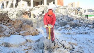 Гидравлический отбойный молоток, ручной забиватель свай и гидростанция Caiman UH070(Тестирование в зимних условиях строительной гидравлической техники: гидравлический отбойный молоток,..., 2014-02-20T09:11:06.000Z)
