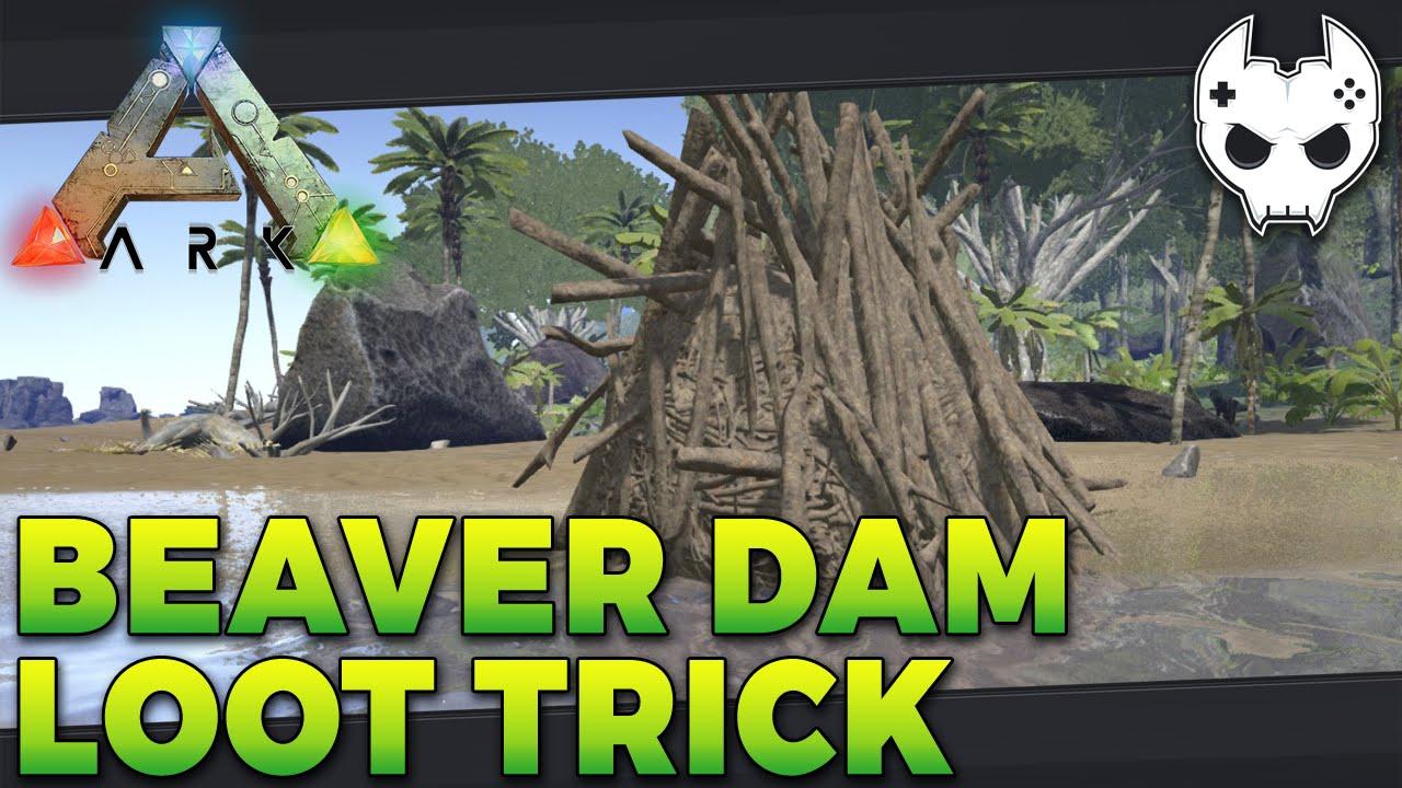 ARK: Survival Evolved - How to Find Beaver Dams   Ark Beaver Dam
