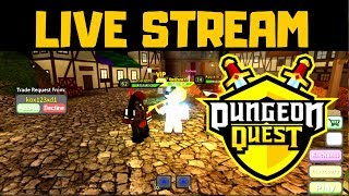 🔴 Dungeon Quest - ROBLOX LIVE✅ FARMING | TRAGEN | GIVEAWAYS ✅ #27