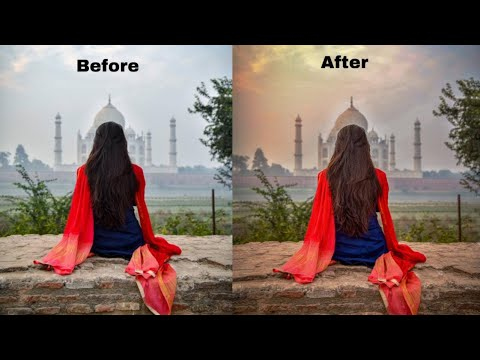 Photoshop Editing: Outdoor Portrait editing | Sunset effect