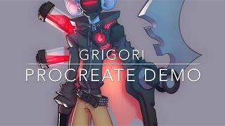 Grigori - Procreate Demo (Character Design Exercise)