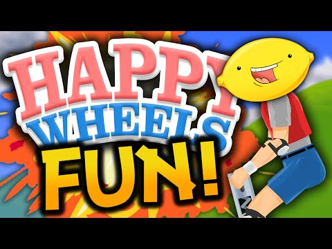 "Happy Wheels: Funny Moments! – ""INSPIRING POGO!"" – (Happy Wheels Gameplay)"