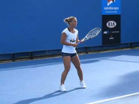 Dominika Cibulkova - Australian open 2012 - Slow motion video 01
