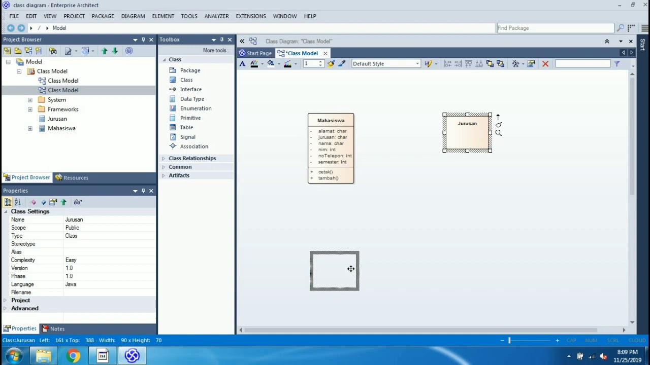 Tutorial Membuat Class Diagram Menggunakan Enterprise ...