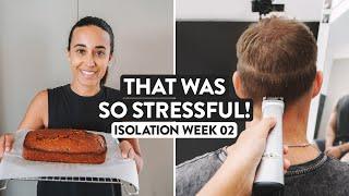 Attempting A Haircut At Home 🤭 Isolation baking & haircut vlog during coronavirus