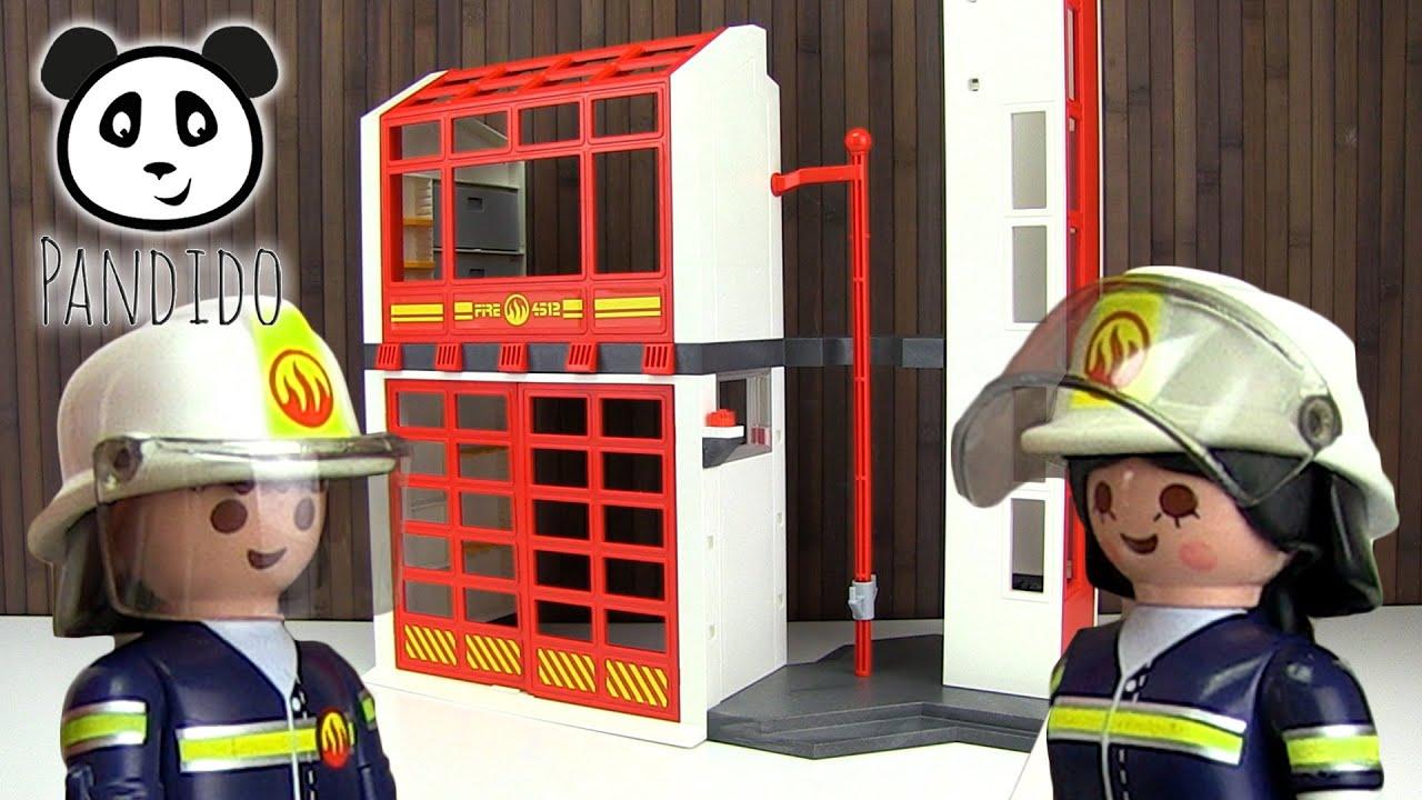 Playmobil Feuerwehr Feuerwehrstation Spielzeug Ausgepackt