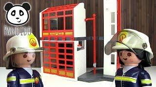 ⭕ PLAYMOBIL Feuerwehr - Feuerwehrstation - Spielzeug ausgepackt & angespielt - Pandido TV