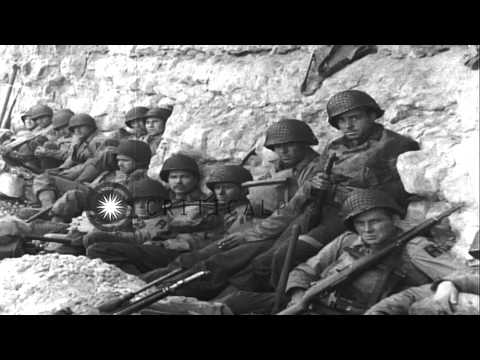 United States Army 1st Infantry - 3rd Battalion. 16th Regiment troops at Omaha Be...HD Stock Footage