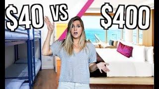 $40 VS $400 Hotel Room!
