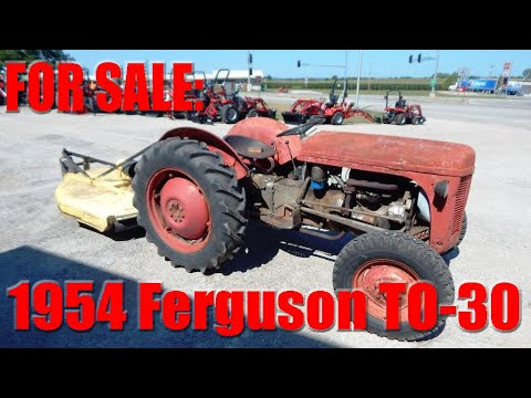 For Sale: 1954 Ferguson TO-30 Utility Tractor (28 PTO HP) - $2,750 00