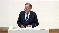 Regierungserklärung der niedersächsischen Landesregierung zur Corona-Krise am 25.03.20