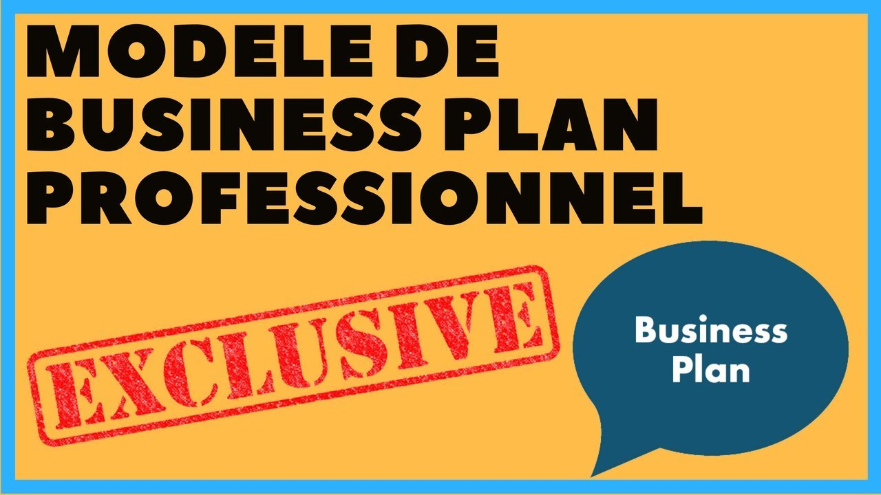 modele business plan gratuit word
