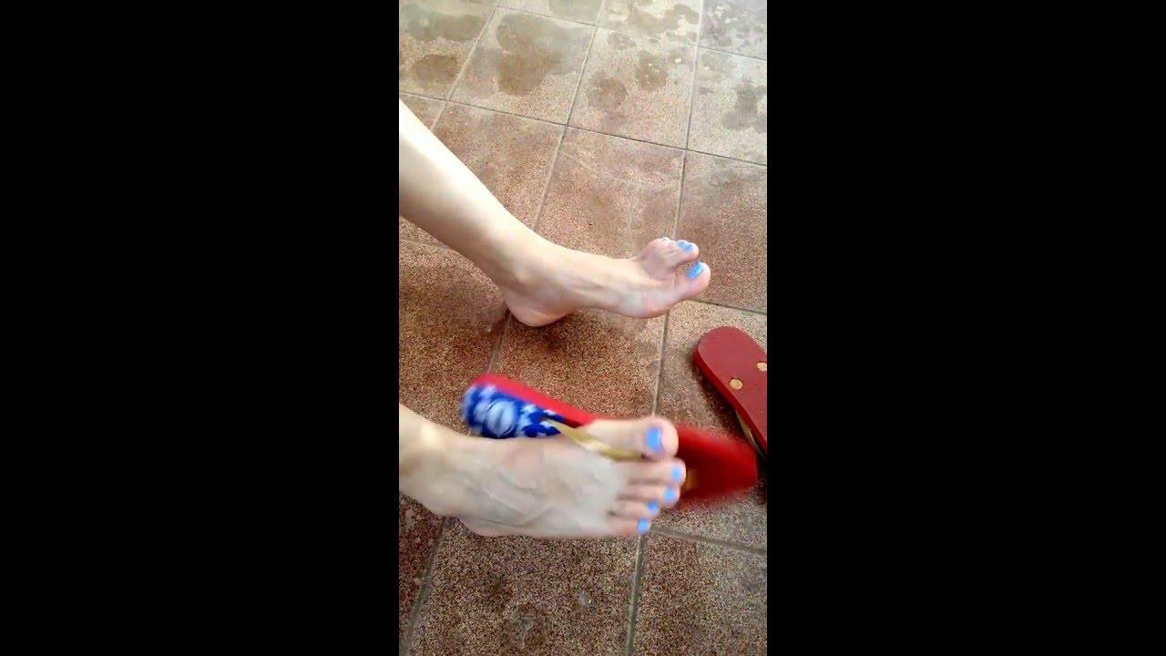 Porn girls with flip flops