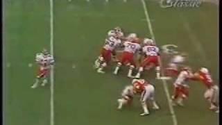 Greg Hill catches TD vs. Miami, 1984, The Comeback